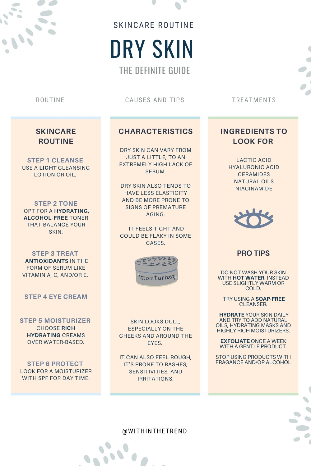 Dry Skin Care Guide Infographic