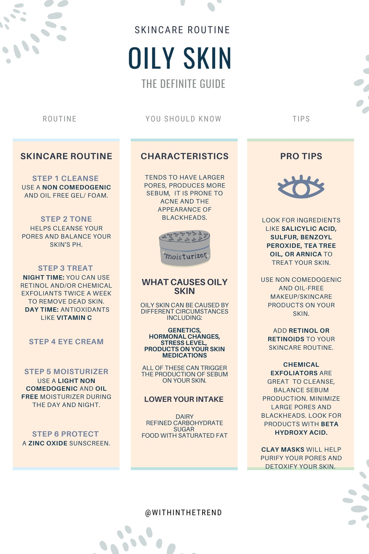 Oily Skin Care Routine Info
